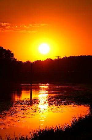 coucher orange